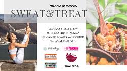 Sweat & Treat – Milano: Vinyasa Yoga and Veggie Bowl workshop